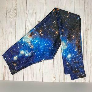 Blackmilk Galaxy Blue Leggings Small
